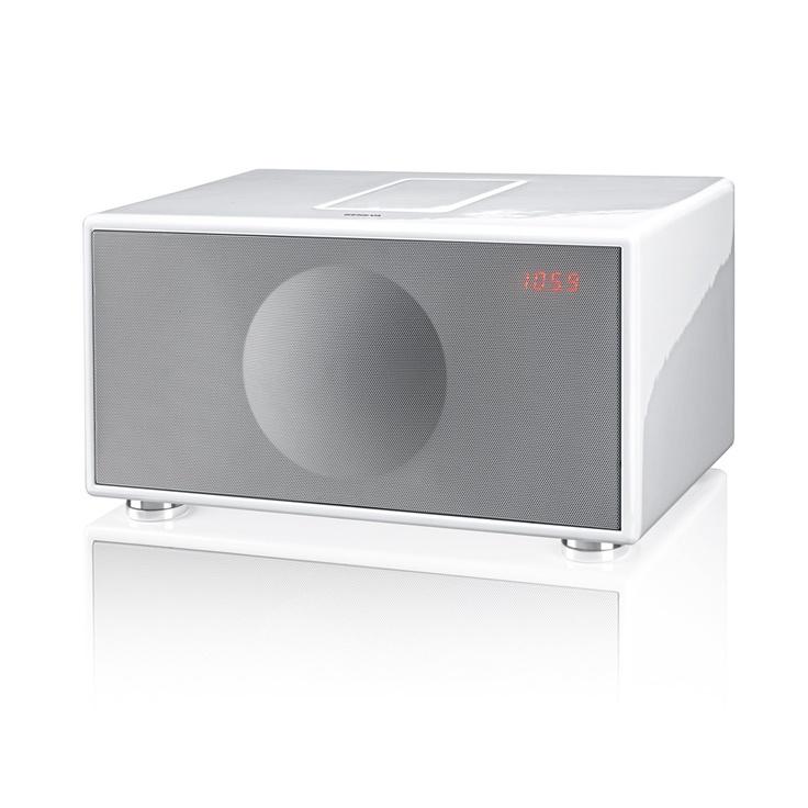 Geneva Sound System Model M / Wit iPod/iPhone, FM, Luidsprekers, Versterker. All-in-One.