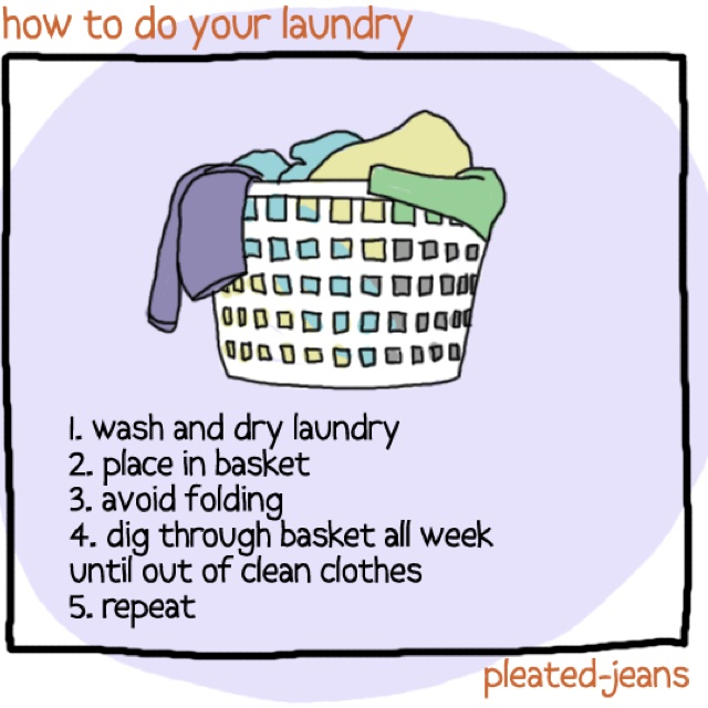 How to do laundry.