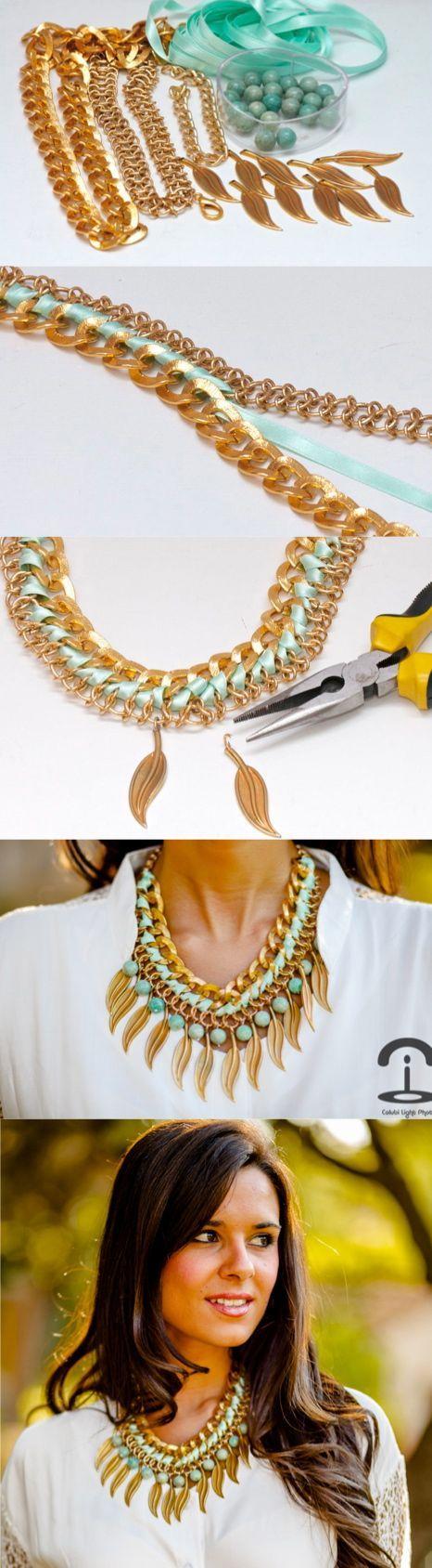 DIY: Leaf necklace