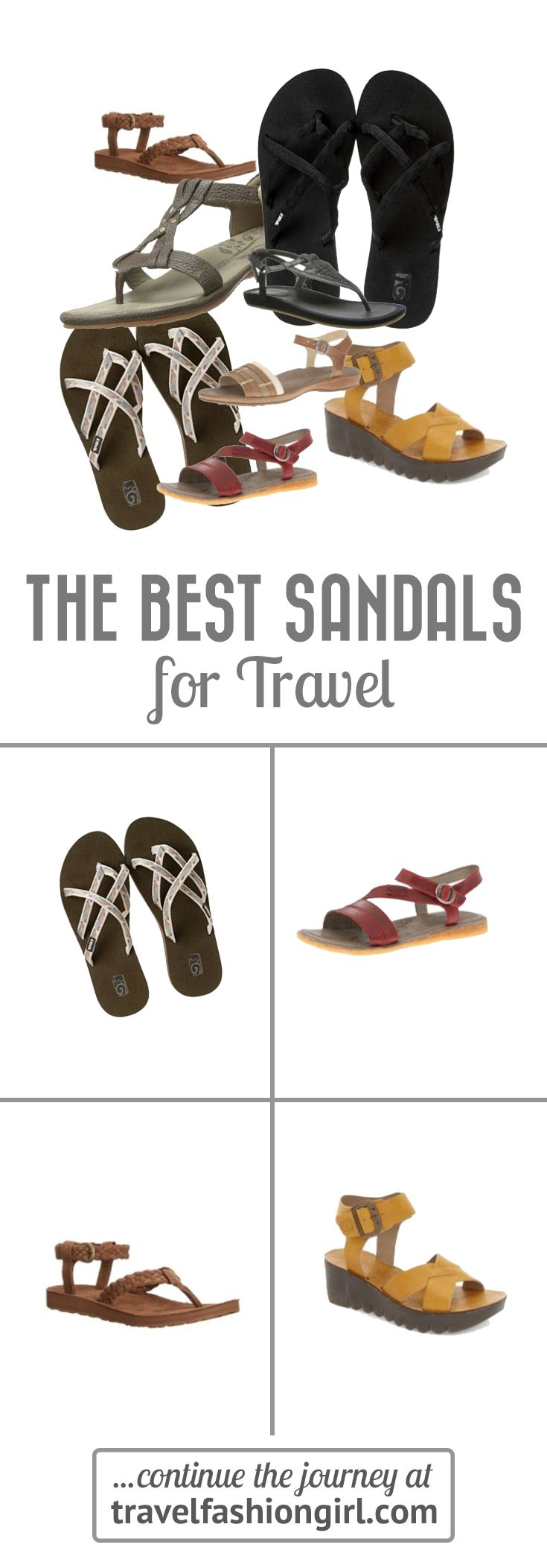 Best Sandals for Travel 2018: Shop 10 Cute and Comfortable Shoes