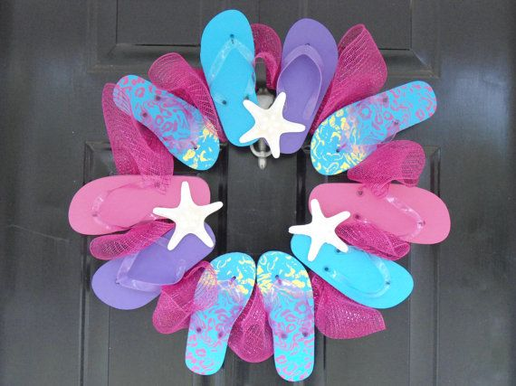 89 best images about flip flop wreaths on pinterest for Decoration 75019