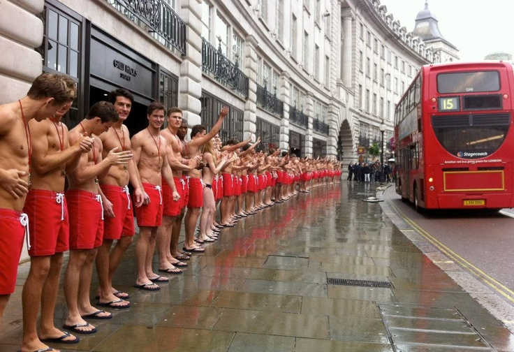 Abercrombie & Fitch presents Gilly Hicks & Hollister Regent Street flagship stores with Hot Lifeguards on May 3, 2012 in London, England.