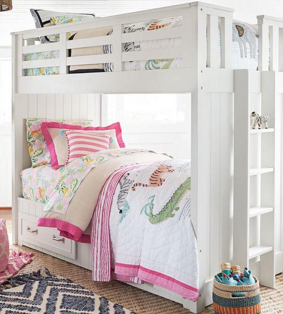 Jungle Safari Quilt Girls Bunk Beds Bunk Beds With