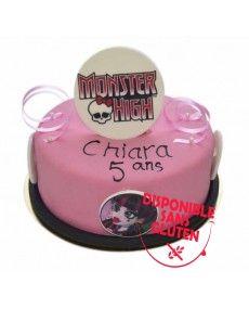 Gâteau d'anniversaire logo Monster High