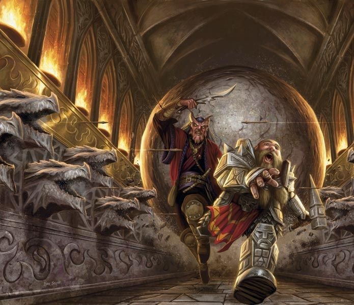 Go ahead, split the party. - In most RPG's and at most game tables the players will tell you DON'T SPLIT THE PARTY. It's a cliché but it's a fact in most games that you don't want to split the party. Splitting the party often will be punished and spell the doom or at least a maiming of your character. Do it enough and all the king's horses and all the king's men won't be able to put Grunk the Barbarian back together again. http://rpghunter.siterubix.com/go-ahead-split-the-party