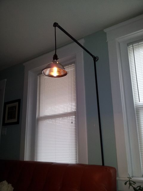 Homemade Clamp Light And 1 2 Quot Black Pipe Wall Lamp Easy