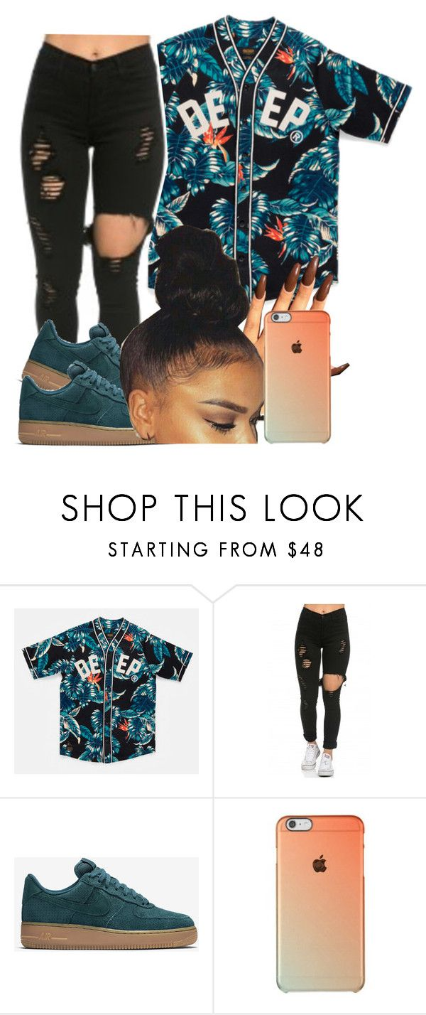 """""""She Don't :: Ella Mai """" by httpsydney ❤ liked on Polyvore featuring NIKE"""