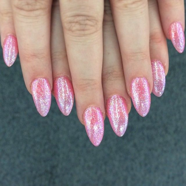 Best 25 pink glitter nails ideas on pinterest light pink nails glitter nails winged eyeliner and strong brows view more beauty posts like this on flowerchild prinsesfo Choice Image