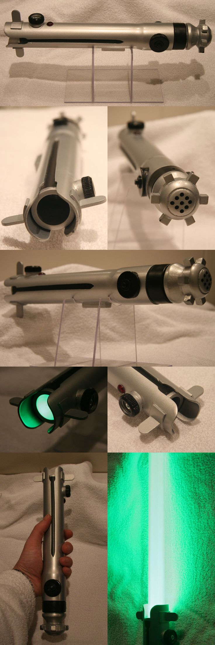 Ahsoka Tano PVC saber finished by Mace2006.deviantart.com on @DeviantArt