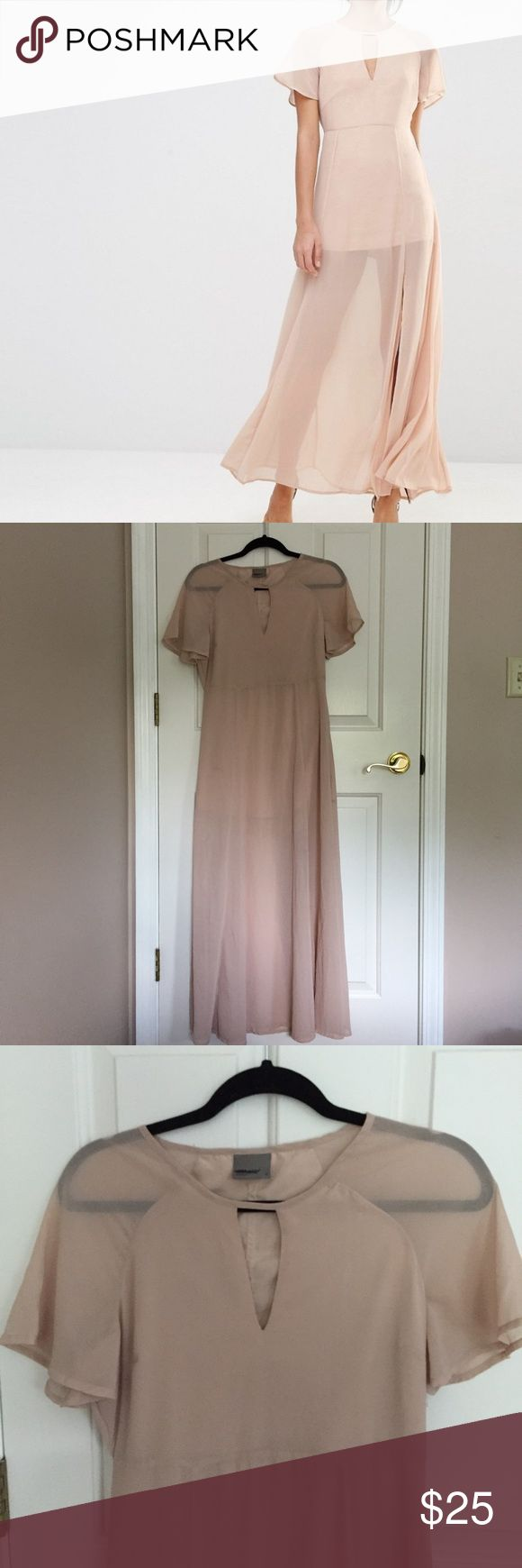 Vero moda ASOS maxi dress Short sleeve blush maxi dress from vero moda.  Sold online at ASOS but currently sold out. Relaxed fit. NWOT ASOS Dresses Maxi