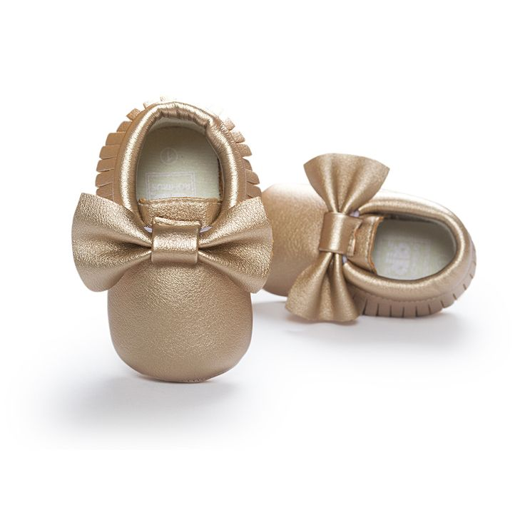 Baby girl gold moccasins - first walkers - baby shower gift - baby shoes - newborn