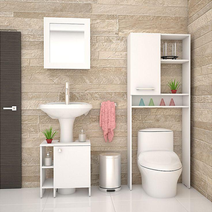 ¡Un baño perfecto es un baño organizado!, logra esto con estantes y botiquines de muchos compartimentos #Sodimac #Homecenter.