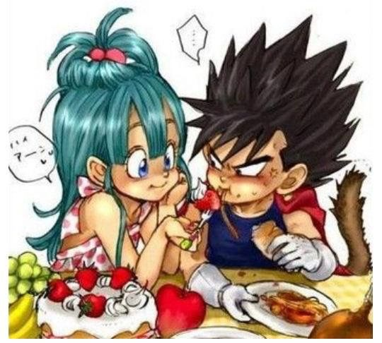Kid Bulma and kid Vegeta, my love for this is over 9000!!