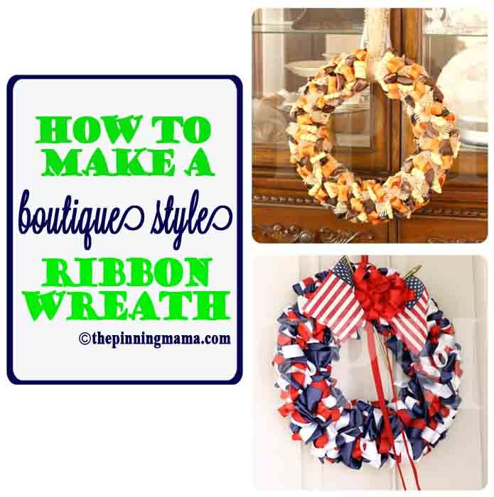 {diy} How to Make an Easy Ribbon Wreath Would be a great project to do with @Nicole Novembrino Snow Rainbow colors? Greens? Earth tones? Holiday colors? They have ribbon yarn that would be perfect.