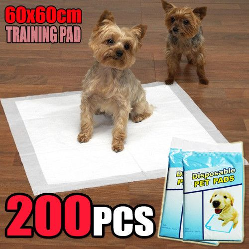 200 PCS Puppy Pet Dog Cat Training Pads 60x60cm Super Absorbent Wee Loo Toilet Kit - Ultra Saver