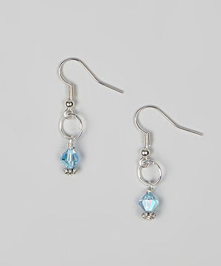 With a hue fit for a precious stone, these delicately darling drop earrings bring a pinch of glamour to a mini maven's ensemble. A Swarovski crystal bead and silver-plated construction are soft on sensitive skin for all-day wear that's simply sophisticated.