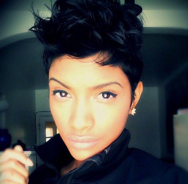 ebony hair styles 17 best keyshia cole hairstyles images on best 8065 | 91ab9e51da54bf98bff8fdcd8065ea34 cute haircuts pixie haircuts