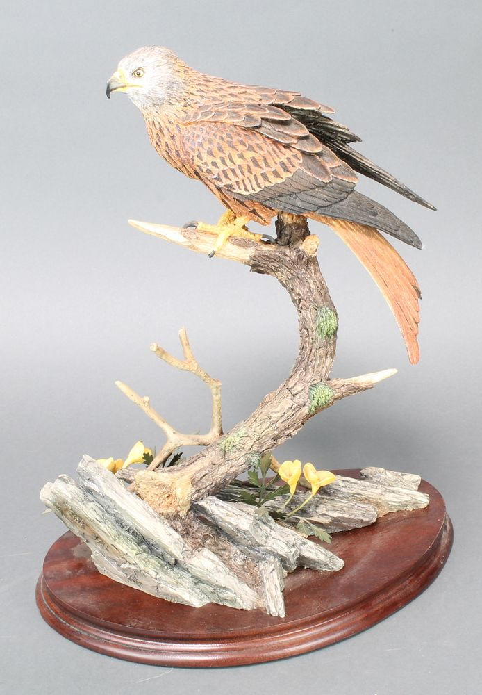 "Lot 114, A Border Fine Arts figure - Red Kite B0794 309/600 by R J Roberts 14"", with certificate est £80-120"