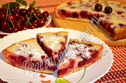 Вкуснейший пирог с вишней со сметанной заливкой! Рецепт с фото и видео-рецепт пирога с вишней.