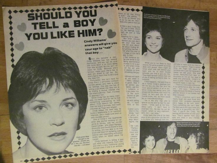 Cindy Williams Laverne And Shirley Two Page Vintage