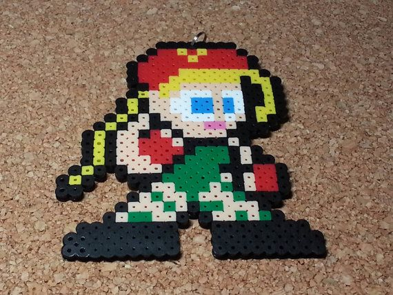 Cammy  Fighting Stance Street Fighter perler beads by DCBPerlerSprites