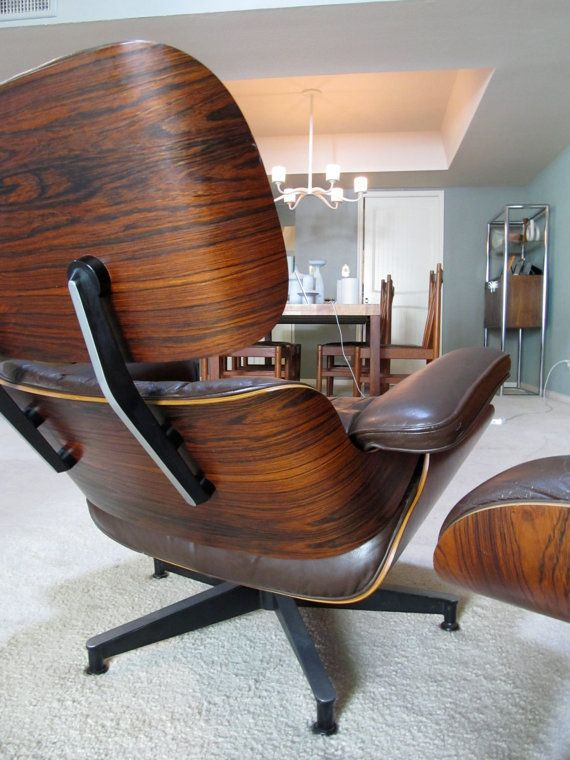 Outstanding Vintage Rosewood Eames Lounge & Ottoman * RARE Chocolate Brown Leather on Etsy, $4,500.00