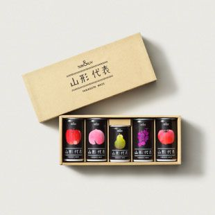Yamagata Daihyo 5 kinds of fruits juice cans