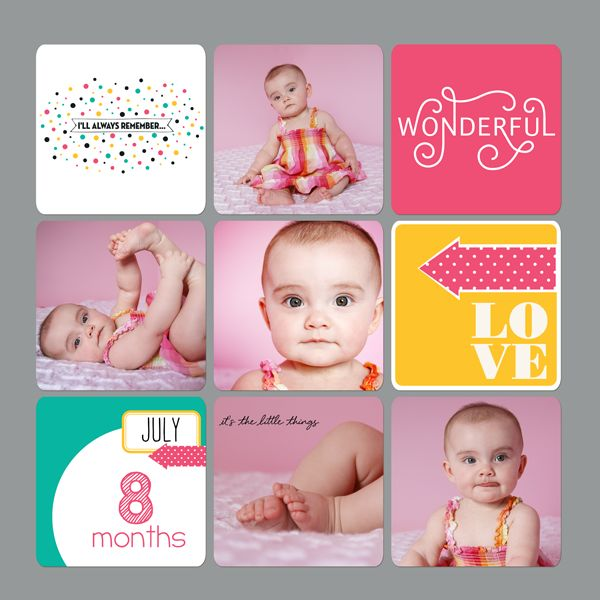 Sheri Mae Designs: digital project life | my baby through the years