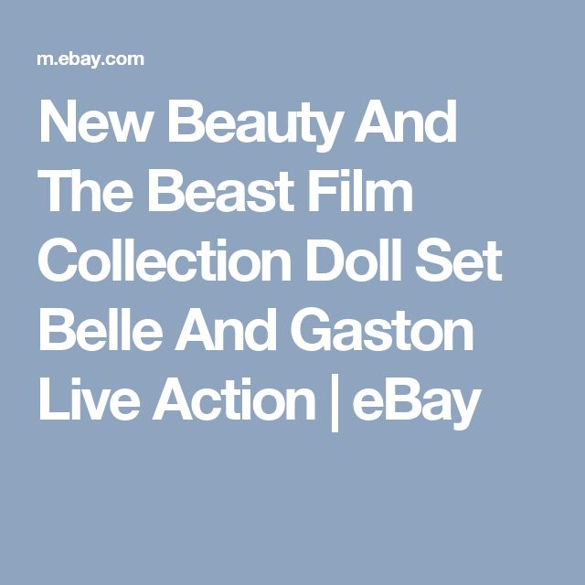 New Beauty And The Beast Film Collection Doll Set Belle And Gaston Live Action  | eBay
