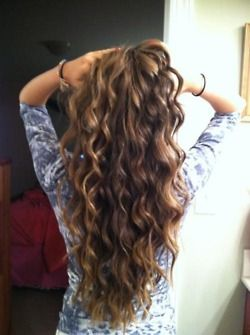 I need my hair this long! There are so many things I could do with it. & I want to dye it a little darker than this color :)