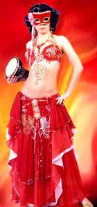 Danza del vientre - traje de tutorial (falda de danza del vientre)