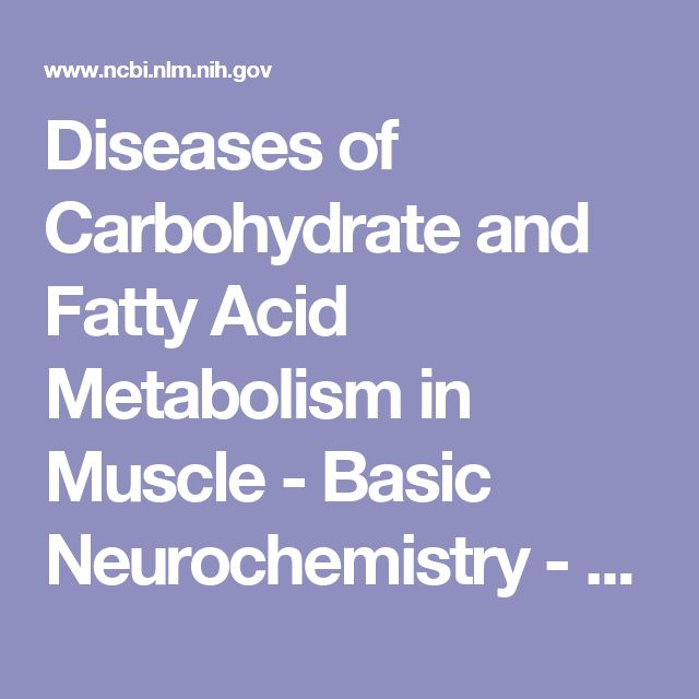 Diseases of Carbohydrate and Fatty Acid Metabolism in Muscle - Basic Neurochemistry - NCBI Bookshelf