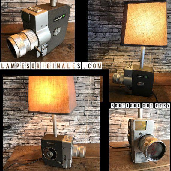 Lampe Orignale Deco Ancienne Camera Super 8 Vintage Deco Loft Vintage Photograph Lamp Lighting Decor