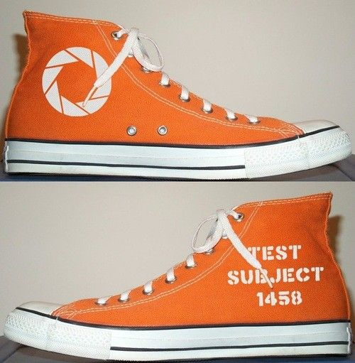 We're sorry, but these custom-made Portal Converse sneakers are a lie. Or at least they are unavailable — for the moment.