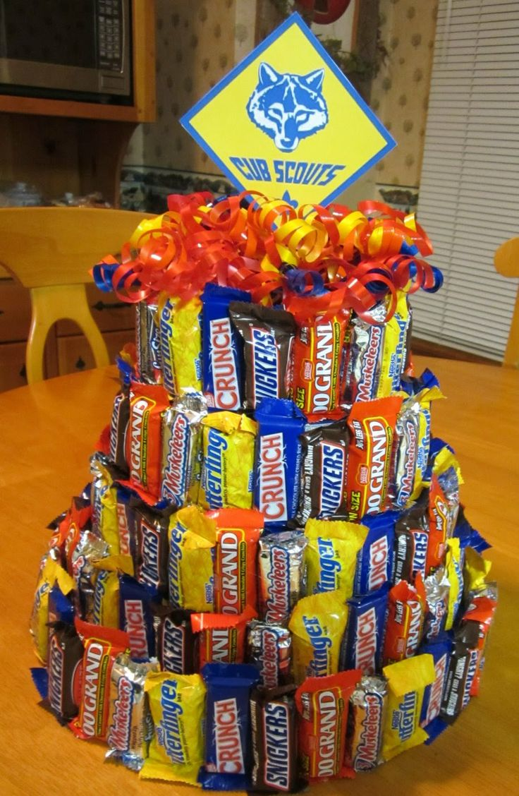 Awesome birthday cake idea for the adult with a sweet tooth. Making this for my brother for his birthday!!