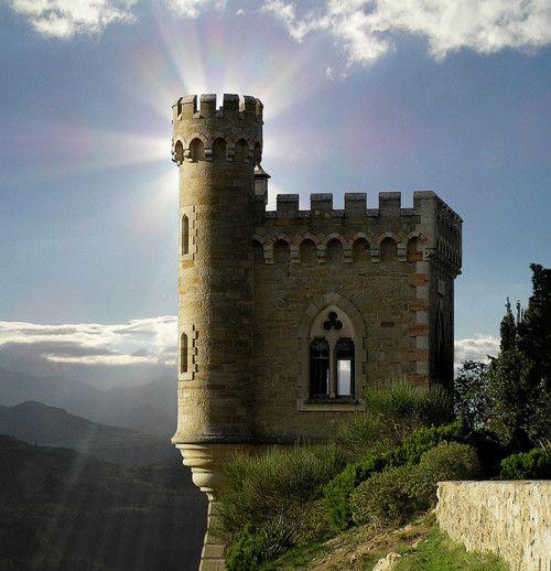 Cliffside Castle, Renne, France    http://bluepueblo.tumblr.com/post/21436518961/cliffside-castle-renne-france-photo-via
