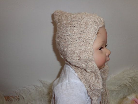 Newborn Hat  Baby Hat Stoking HatOatmeal by knitsdwarfs on Etsy, $22.00