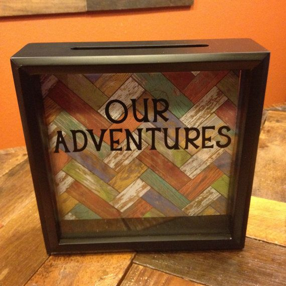 Our Adventures Ticket Stub Shadow Box 8x8 Girlfriend