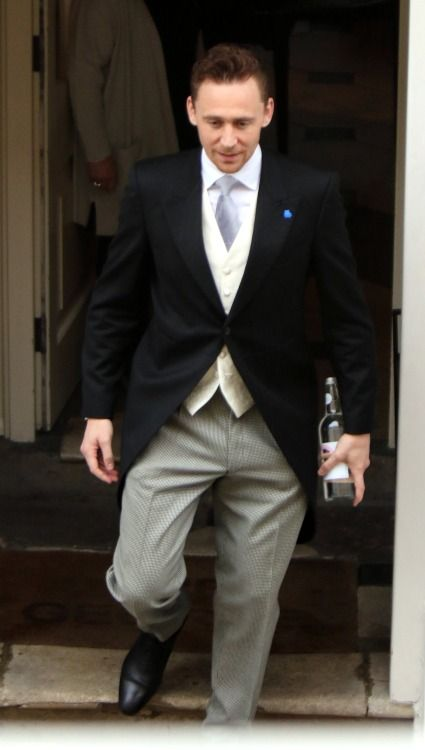 Tom Hiddleston. Benedict Cumberbatch's wedding. Via Torrilla.tumblr.com
