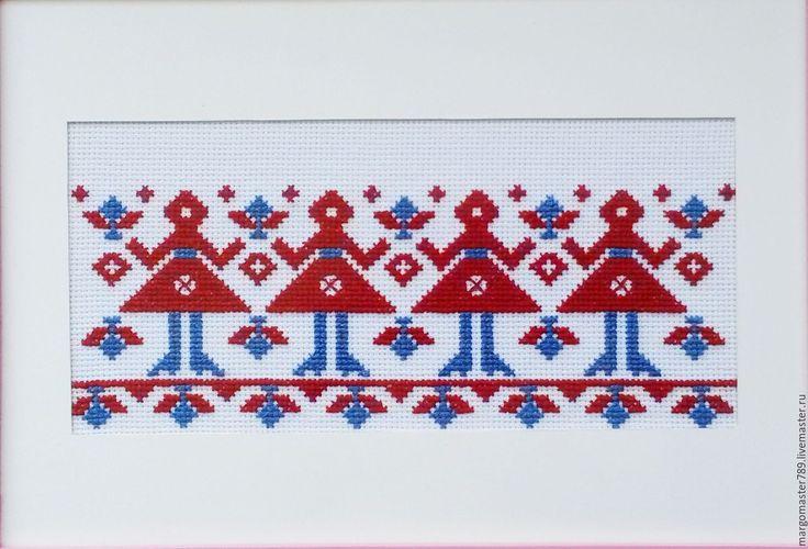 Купить Вышивка оберег Женская сила - вышивка в интерьере, русское народное, настенное панно купить