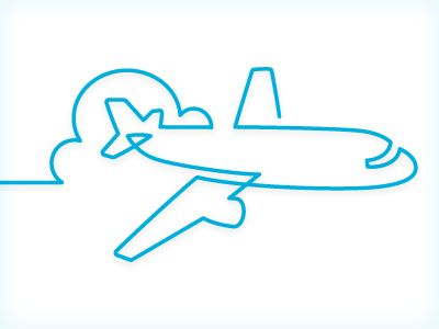 Simple airplane #line illustration. Very well done.