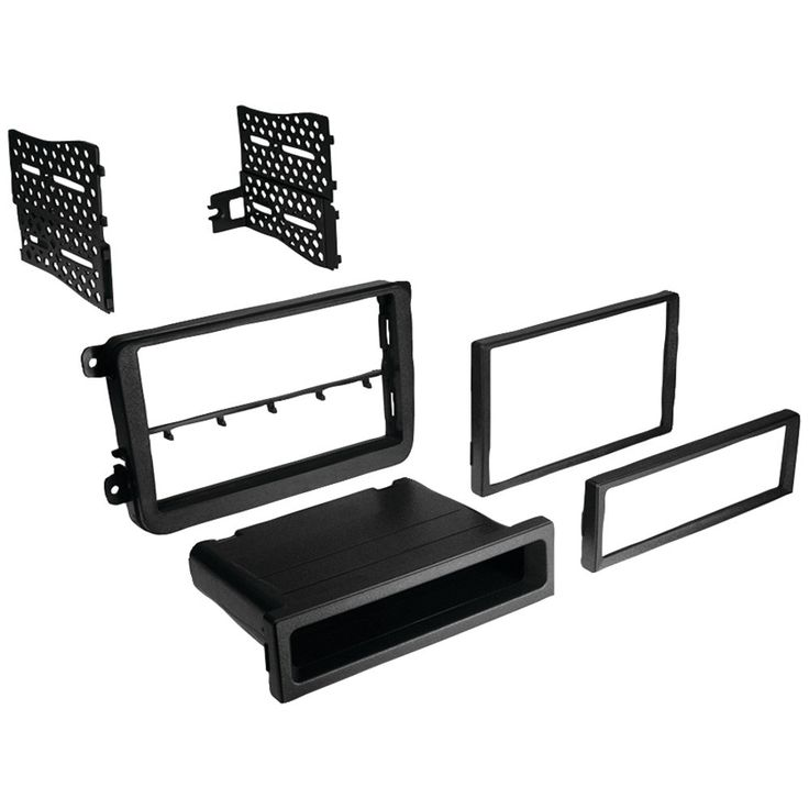 Best Kits In-dash Installation Kit (volkswagen Cc 2009-11 And Eos 2007-2011 And Gti 2006-2011 And Jetta 2005-2011 And Passat 2006-2011 And Rabbit 2007-2009 And Tiguan 2009-2010 Double-din And Single-din With Pocket)