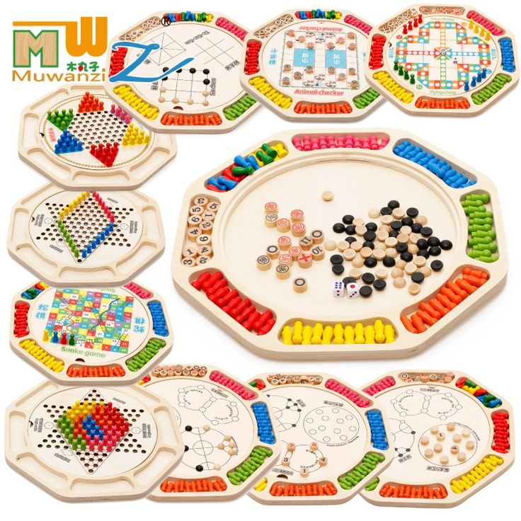 41.59$  Buy here - http://alifc1.shopchina.info/go.php?t=32805729399 - MWZ 16 kinds of games Multifunction Chinese checkers Flying animal checker Snake lucky26 Children Wooden Chess Puzzle Toys  41.59$ #magazine
