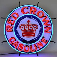 Image result for round neon gas station signage