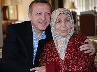 Recep Tayyip Erdogan with his mother.(Prime Minister of Turkey).