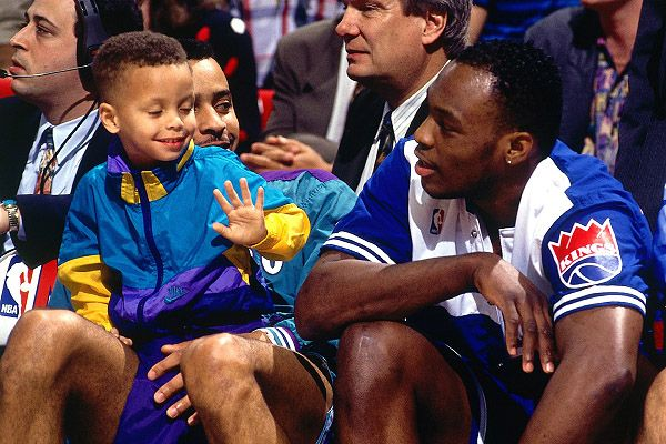 Curry basically grew up in the NBA.  Andrew D. Bernstein/NBAE/Getty