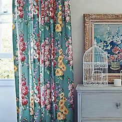 Multicoloured 'Hollyhocks' curtains