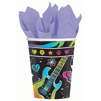 Neon Birthday Paper Cups