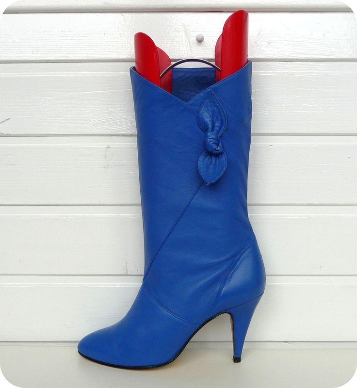 VINTAGE 70er JAM Stiefel Blau 37 Leder Boots UK 4 US 6,5 Stiefeletten NEU!! Blue in Kleidung & Accessoires, Damenschuhe, Stiefel & Stiefeletten   eBay