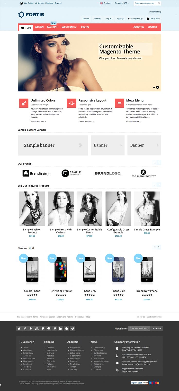 Fortis - Fully Responsive Magento Theme   Demo 2